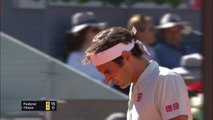 Thiem saves match points to beat Federer