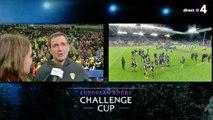 La réaction de Franck Azema suite à la victoire de la Challenge Cup