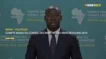 Bénin : compte rendu du conseil des ministres du mercredi 8 mai 2019