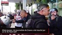 Gilets jaunes : Un journaliste de Cnews a été touché par un tir de flash-ball (vidéo)