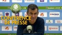 Conférence de presse Clermont Foot - ESTAC Troyes (2-4) : Pascal GASTIEN (CF63) - Rui ALMEIDA (ESTAC) - 2018/2019