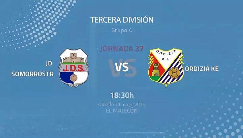 JD Somorrostro-Ordizia KE Jornada 37 Tercera División 11-05 ...