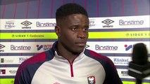 Réaction de Brice Samba après SMCaen / Stade de Reims