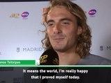 Win over Nadal 'means the world' for Tsitsipas