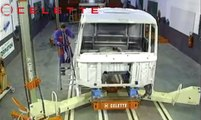 Celette truck cabin and chassis frame machine, frame machine, measuring system, universal jigs