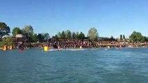Ironman 70.3 du pays d'Aix : les athlètes s'élancent dans le lac de Peyrolles