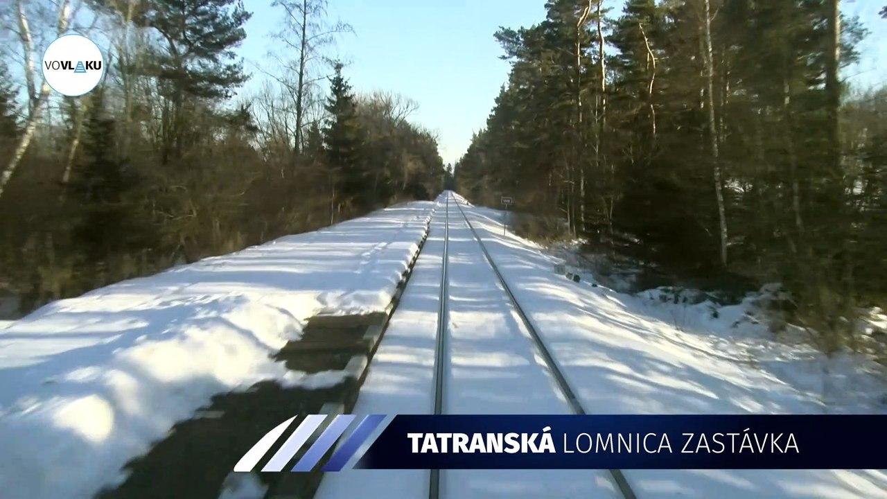 UNIKÁTNY VLAKOVÝ VIDEOPROJEKT: Trať Tatranská Lomnica - Studený Potok
