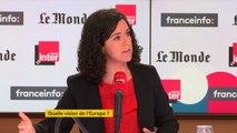 """Manon Aubry : """"Soit nous proposons collectivement de nouvelles règles, soit (...) on dit qu'on n'appliquera pas les dispositions qui ne nous vont pas, on aura eu un mandat populaire pour ne pas les respecter""""."""