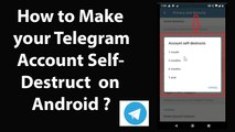 How to Make your Telegram Account Self Destruct on Android?