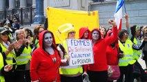 Manifestation des femmes Gilets jaunes à Lyon