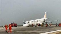 Birmanie : atterrissage d'urgence sans train avant