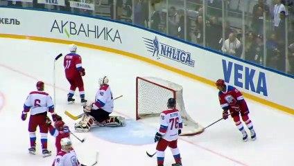 Would you stop Vladimir Putin scoring in an ice hockey game?