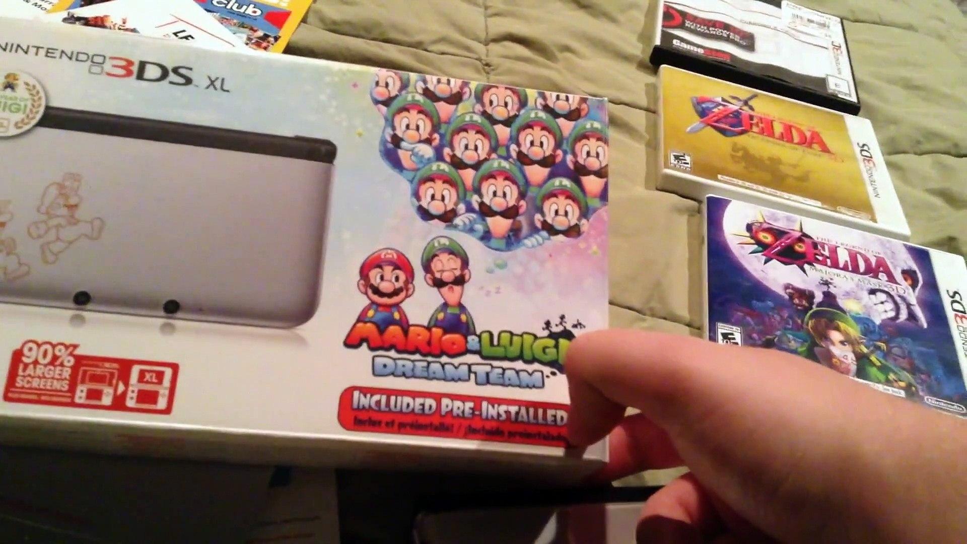 Nintendo 3ds Mario Luigi Dream Team Edition Unboxing Video