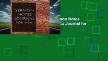 Any Format For Kindle  Sermon Notes Journal for Men: Sermon Notes Journal for Men with Calendar