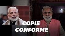 Ce sosie de Narendra Modi, le premier ministre indien, se présente contre lui aux législatives