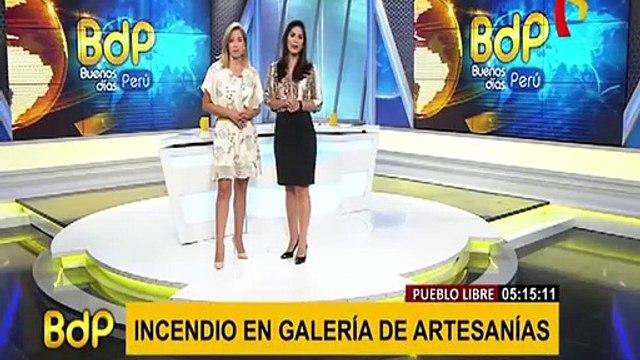 Pueblo Libre: incendio afectó galería de artesanías