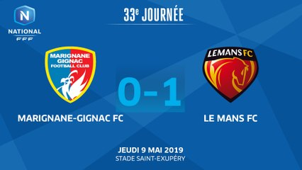 J33 : Marignane Gignac FC - Le Mans FC (0-1), le résumé I National FFF 2018-2019