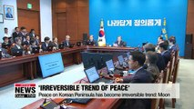 President Moon pledges to strengthen his signature peace and reform drive