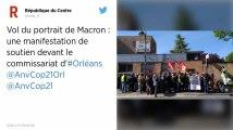 Trois personnes en garde à vue pour avoir décroché le portrait présidentiel près d'Orléans