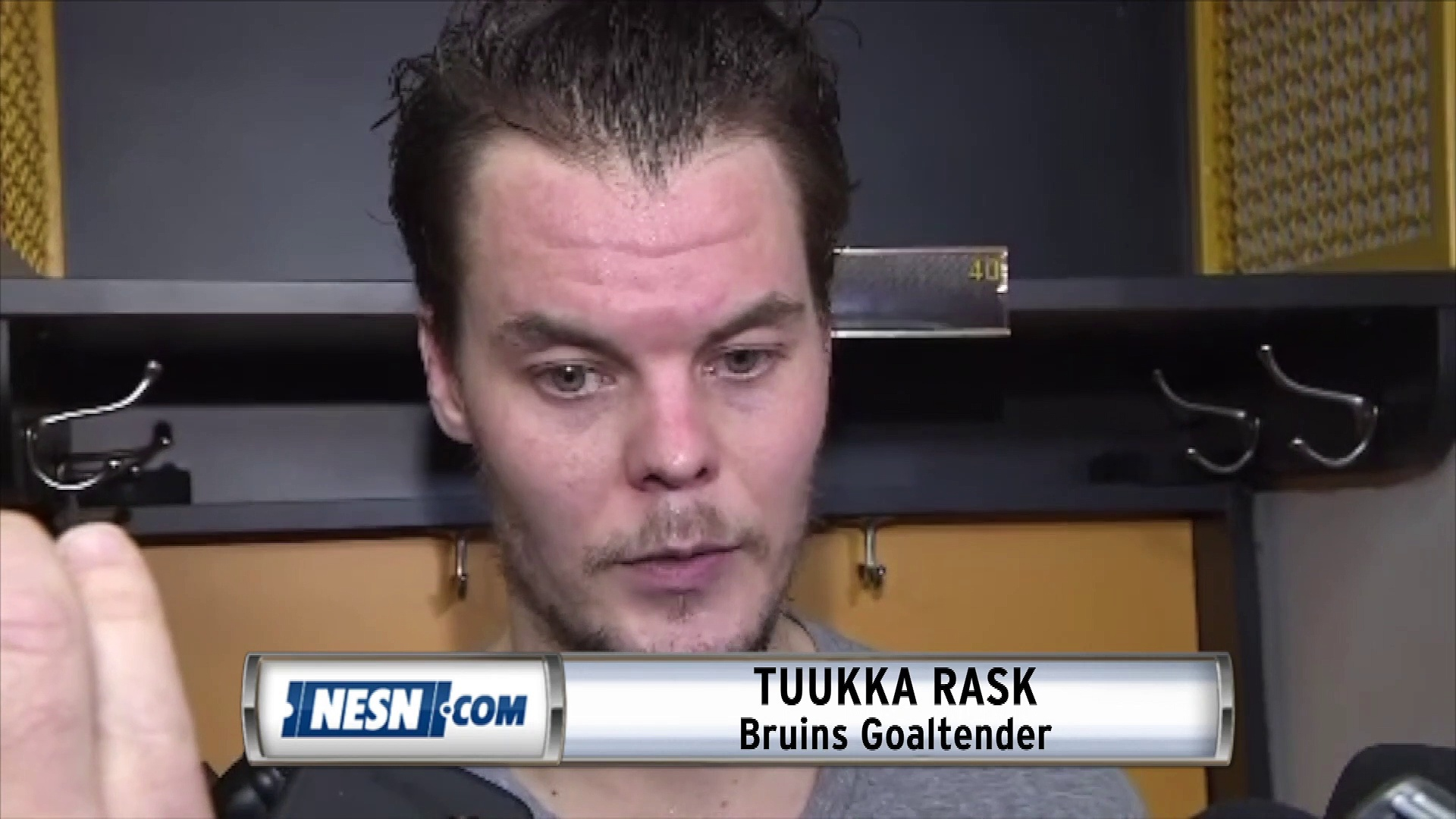 Tuukka Rask On Bruins-Hurricanes Series Not Being Over Despite 2-0 Lead