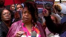 Eric Garner's mother speaks as cop's disciplinary trial begins