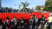 19 Mayıs'ın 100. yılında 1919 metrelik bayrakla yürüdüler - SAMSUN