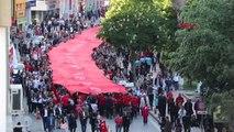 Samsun 1919 Metre Türk Bayrağı ile Şehir Turu