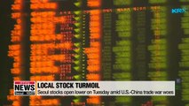 Seoul stocks open lower on Tuesday amid U.S.-China trade war woes