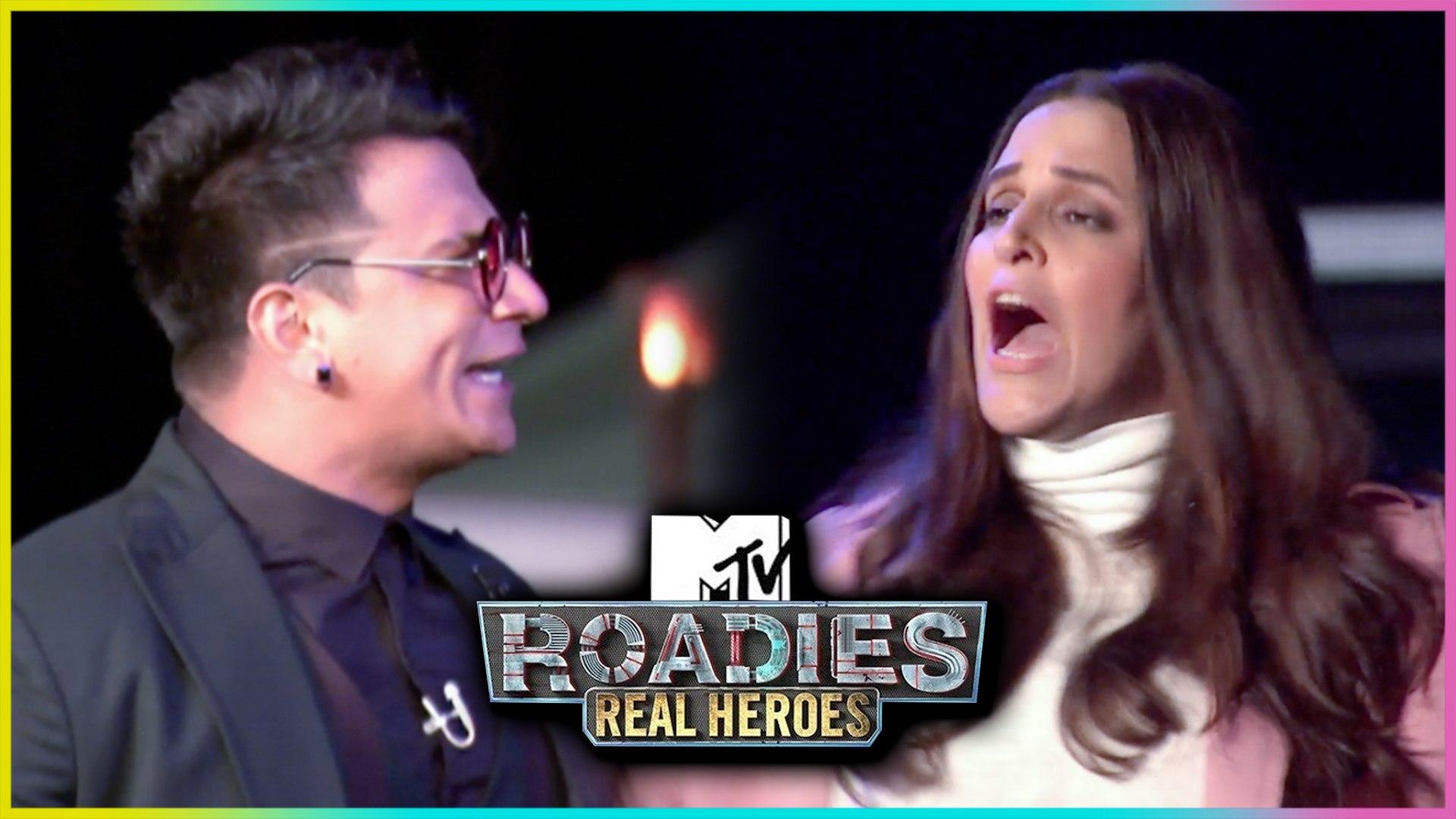 Prince Narula & Neha Dhupia UGLY Fight   MTV Roadies Real Heroes