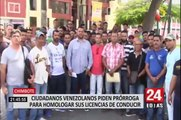 Chimbote: Ciudadanos Venezolanos no pueden trabajar por falta de brevete