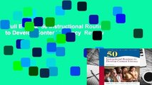 Full E-book  50 Instructional Routines to Develop Content Literacy  Review