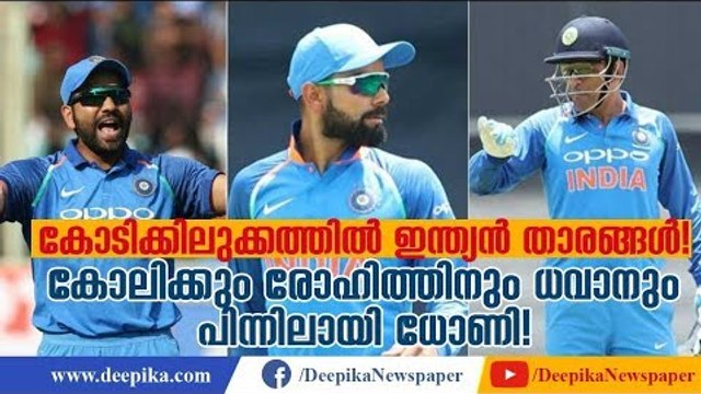 Do You Know How Much Virat Kohli, Rohit Sharma, Dhoni Earn? Quick Facts