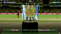 Hotstar breaks global records in the VIVO IPL 2019 final, registers 18.6 million concurrent viewers