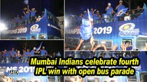 Mumbai Indians celebrate fourth IPL win with open bus parade