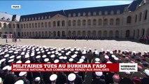 Hommage national aux deux commandos : Emmanuel Macron passe en revue les troupes