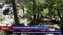 Kaçak kazı sırasında patlama:  1 ölü