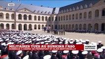 Hommage national aux deux commandos : les cercueils des deux militaires quittent la cour des Invalides