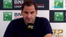 ATP - Rome 2019 - Roger Federer explique pourquoi il est finalement venu à Rome !