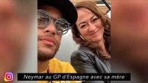Neymar au GP d'Espagne avec sa mère - Galtier prend une douche en conférence