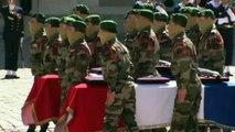 """Hommage national aux deux militaires français tombés """"en héros"""""""