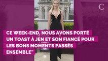 PHOTOS. Jennifer Lawrence célèbre ses fiançailles dans une magnifique robe de mariée... rose