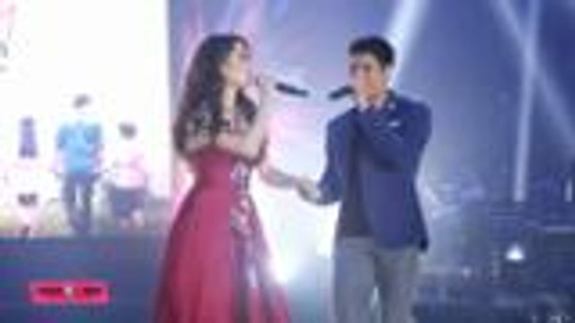 "Jessy Mendiola and JC De Vera sing ""Best Day Of My Life"" at the ABS-CBN Kapamilya Trade Event"