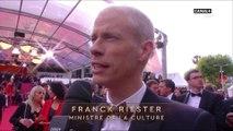 Le ministre de la culture F. Riester assiste à son 1er festival - Cérémonie d'ouverture Cannes 2019