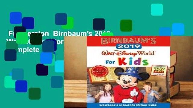 Full version  Birnbaum's 2019 Walt Disney World for Kids Complete