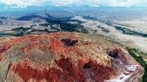 Spectacular salt-dissolved karst landform discovered in northwest China