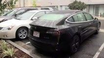 Le coffre de la Tesla Model 3 déteste la pluie... Pas au point du tout