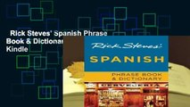 Rick Steves' Spanish Phrase Book & Dictionary  For Kindle