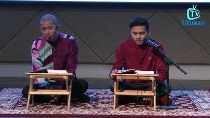 Johan As'ari dan Atiq Azman tunjuk kebolehan mengaji al Quran pada majlis meraikan anak yatim Utusan