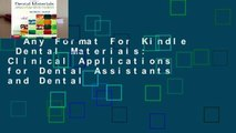 Any Format For Kindle  Dental Materials  Clinical Applications for Dental Assistants and Dental