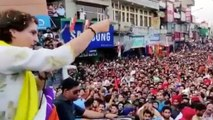 Huge crowd at Priyanka's Pathankot rally, people chants 'Chowkidar Chor Hai'   Oneindia News